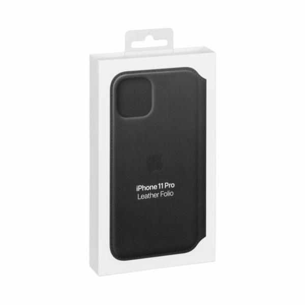 Apple iPhone 11 Pro kozene pouzdro cerne MX062ZM/A