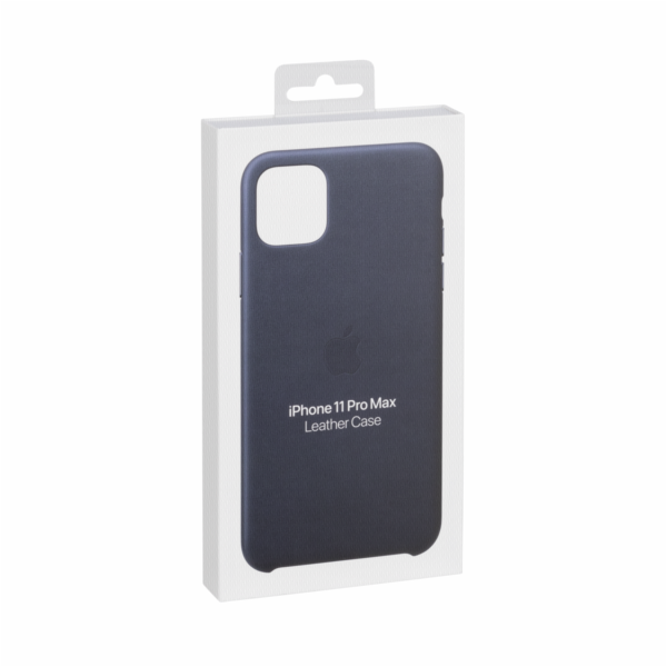 Apple iPhone 11 Pro Max kozene pouzdro pulnocni modra