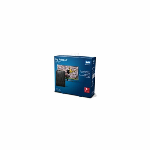 "WD My Passport AV-TV 1TB Ext. 2.5"" USB3.0, Black"