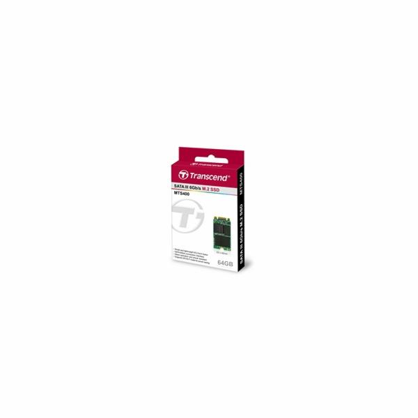 TRANSCEND MTS400S 64GB SSD disk M.2, 2242 SATA III 6Gb/s (MLC), 520MB/s R, 100MB/s W