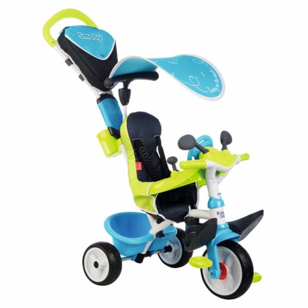 Smoby Trojkolka s poťahom Baby Driver Comfort Blue SM741200