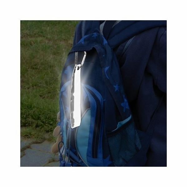 Přívěšek s karabinou reflexní S.O.R. stříbrný COMPASS