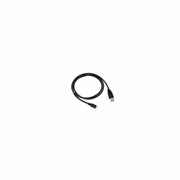 C-Tech CB-USB2M-05B USB 2.0 AM/Micro, 0,5m, černý kabel
