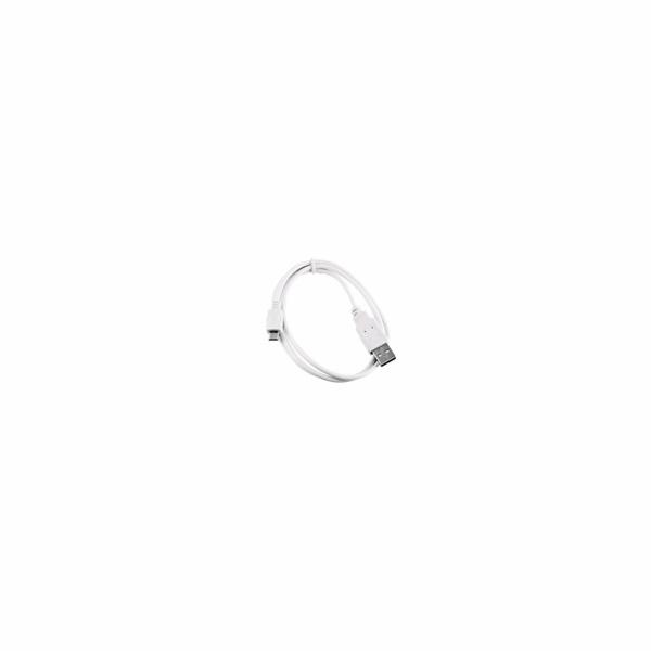 C-Tech CB-USB2M-20W USB 2.0 AM/Micro, 2m, bílý kabel
