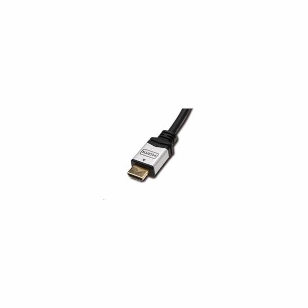 PREMIUMCORD Kabel HDMI A - HDMI A M/M 2m zlacené a kovové HQ konektory, 4K
