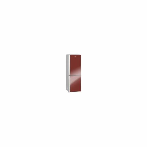 Chladnička kombinovaná Exquisit KGC 291/70 červená
