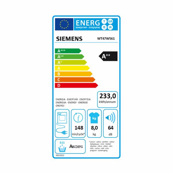 Siemens WT47W561 sušička