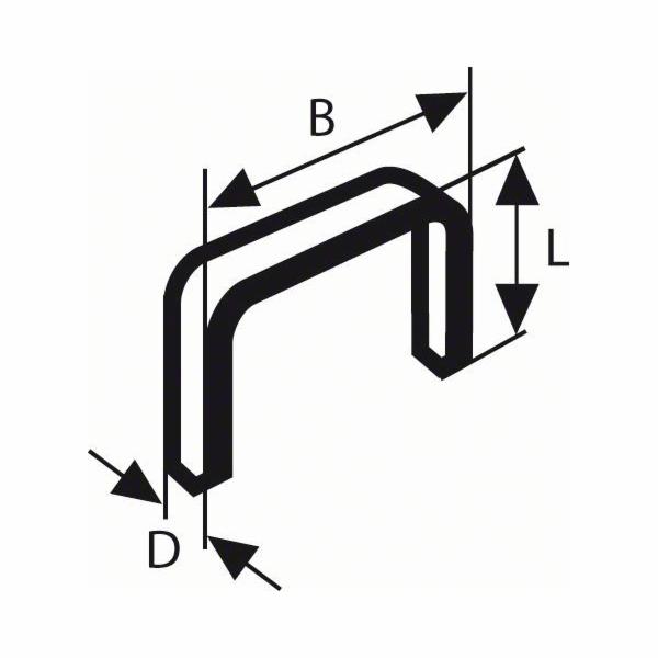 Sponky do sponkovačky z tenkého drátu, typ 53 - 11,4 x 0,74 x 6 mm - 3165140084093 BOSCH