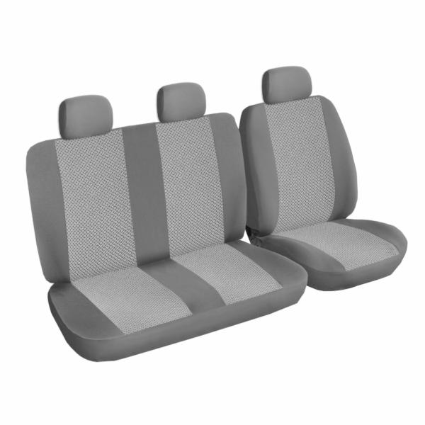 Autopotahy Ford Tranzit CUSTOM, 3 místa, šedočerné SIXTOL