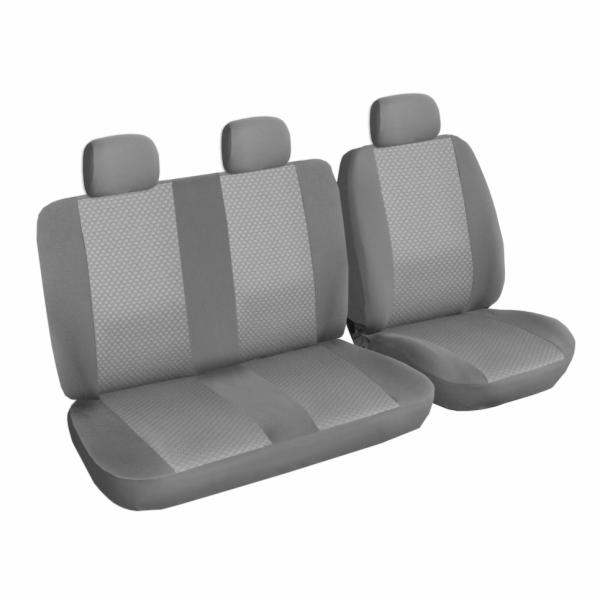 Autopotahy Ford Tranzit CUSTOM, 3 místa, černé SIXTOL