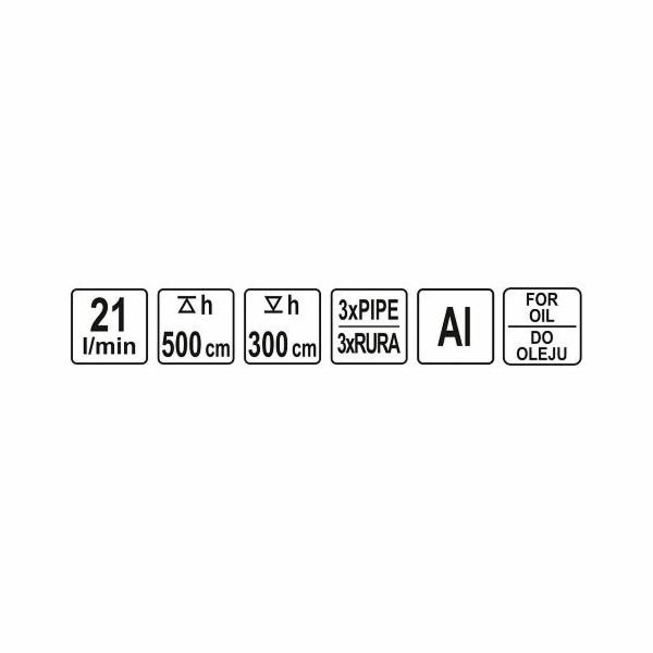 Čerpadlo rotační Al na olej, 21l/min YATO