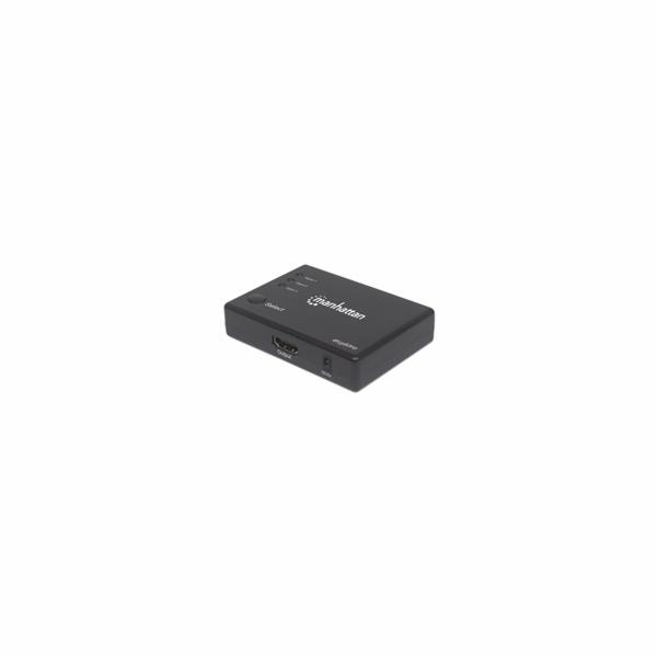 MANHATTAN Přepínač (Switch), HDMI 4K, Remote 60Hz, napájecí adaptér, černý