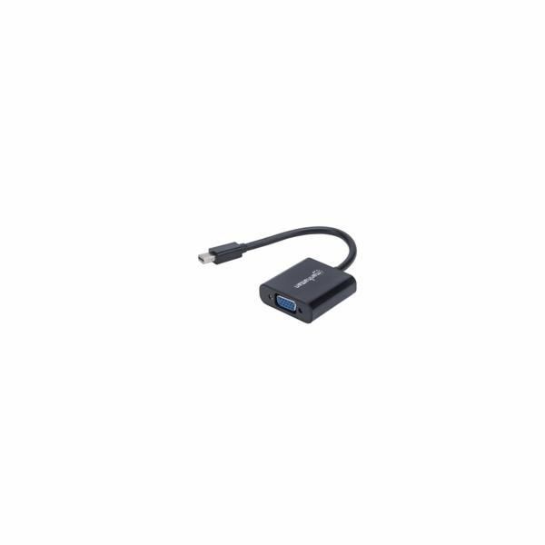 MANHATTAN Převodník, Mini DisplayPort na VGA, Mini-DP-Male/HD15-Female, černý