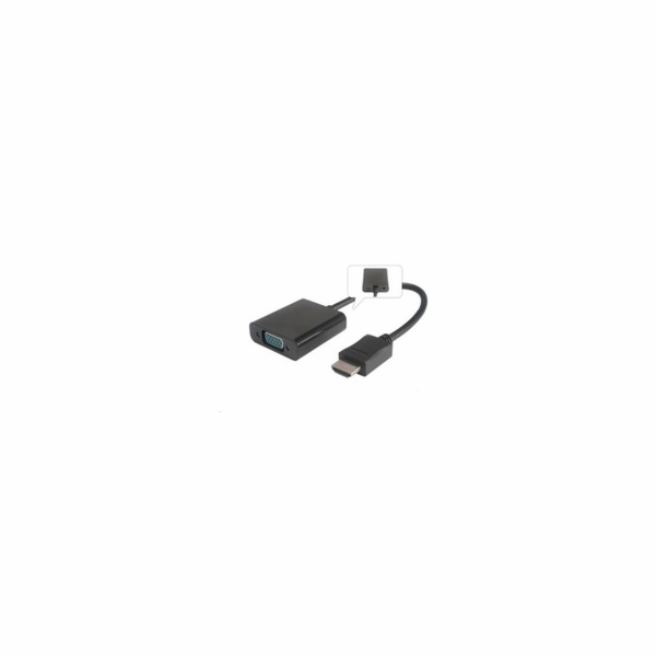 Předvodník HDMI na VGA se zvukem 3,5mm jack- černý