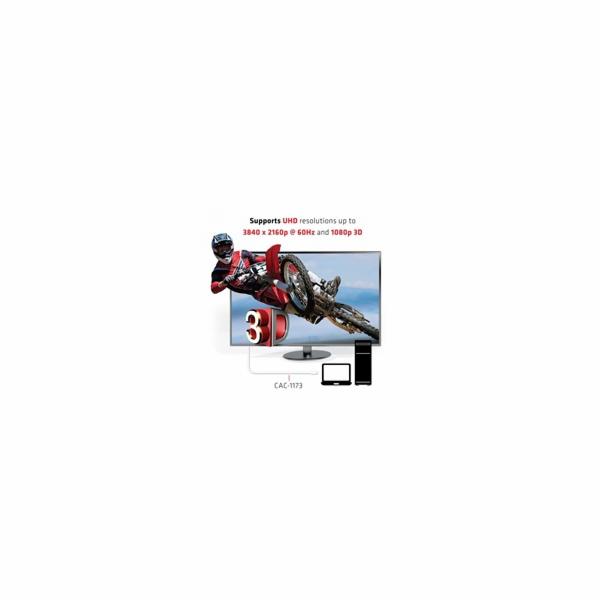 Club3D Adaptér aktivní mini DisplayPort 1.2 na HDMI 2.0 UHD 4K60Hz (M/M), 3m