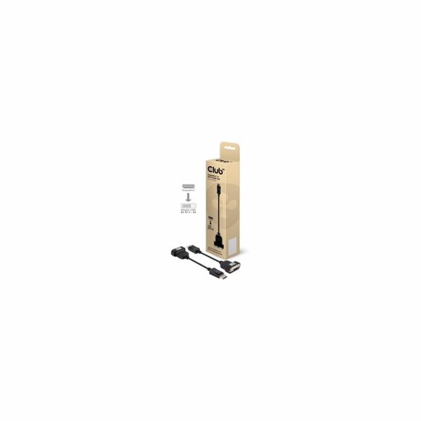 Club3D Adaptér aktivní DisplayPort na DVI-D Single Link (M/F), 20cm