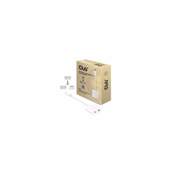 Club3D Adaptér USB 3.1 typ C na Mini DisplayPort 1.2 4K60Hz UHD/USB typ C (M/F), 18cm + PD 60W
