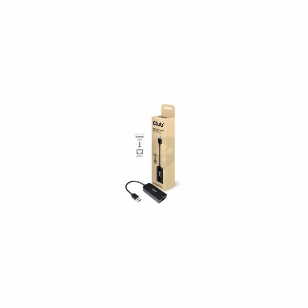 Club3D Adaptér USB 3.2 Gen 1 Typ A na RJ45 2.5Gb, 24cm