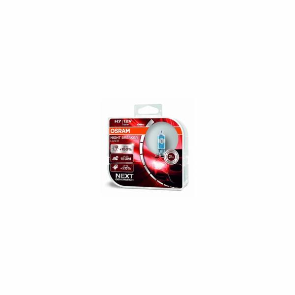 OSRAM autožárovka H7 NIGHT BREAKER® LASER 12V 55W PX26d (Duo-Box)