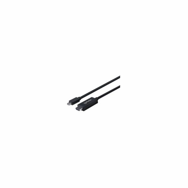 MANHATTAN Kabel Mini DisplayPort na HDMI (1080p), 3m, černý
