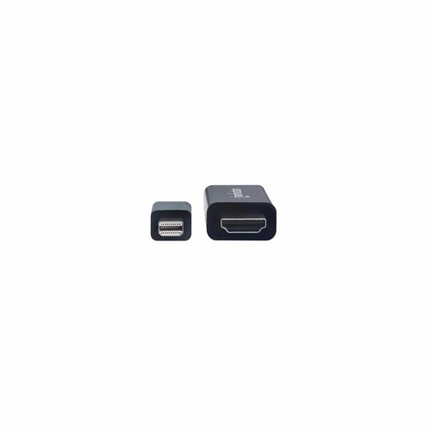MANHATTAN Kabel Mini DisplayPort na HDMI (4K@60Hz), 1m, černý