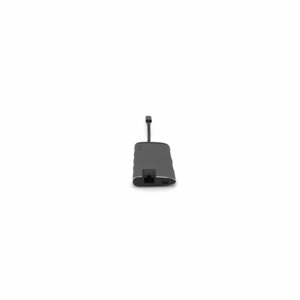 VERBATIM 49142 USB-C Multiport HUB, 3x USB 3.0, 1x USB-C, HDMI, LAN, SD, microSD, šedá dokovací stanice