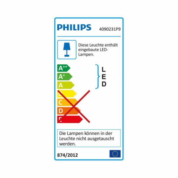 PHILIPS Liane Nástěnné svítidlo, Hue White and color, 230V, 1x12W integr.LED, Černá