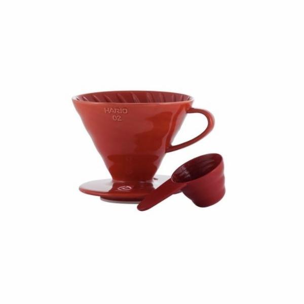 Hario V60-02 dripper červený keramický