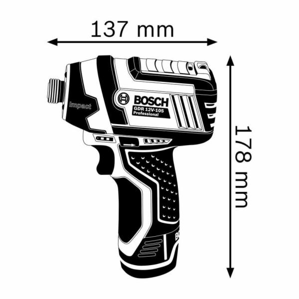 Bosch GDR 12V-105 aku rázový utahovák