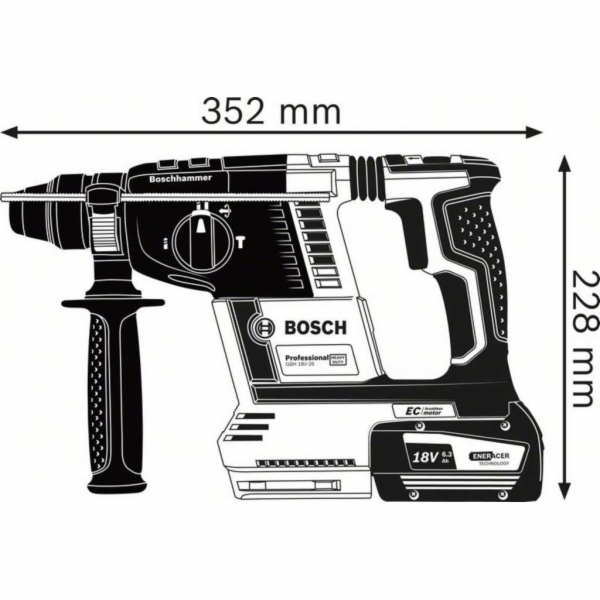 Bosch GBH 18V-26 aku vrtacka s priklepem
