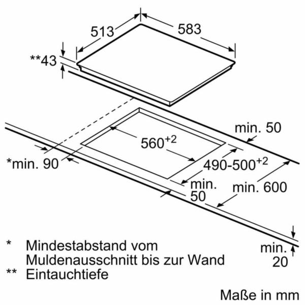 Siemens EA645GN17 Sklokeramická varná deska
