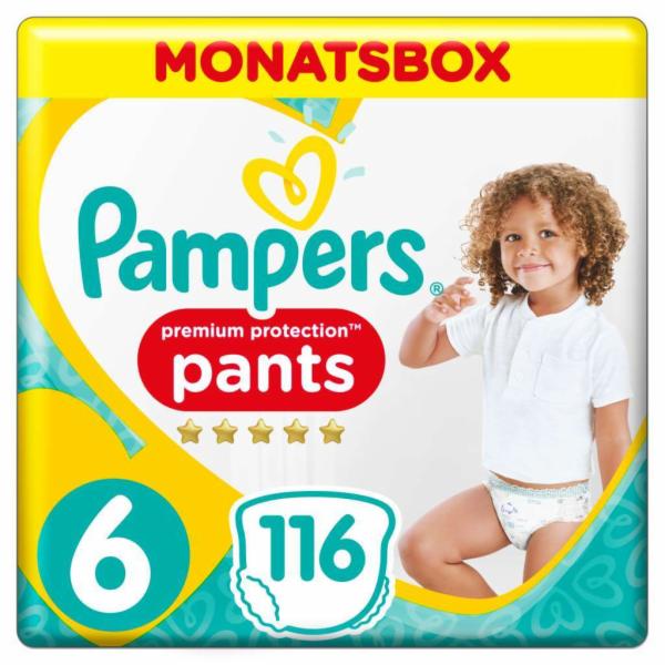 Pampers Premium Protection plenkové kalhotky S6 116 ks (XL)