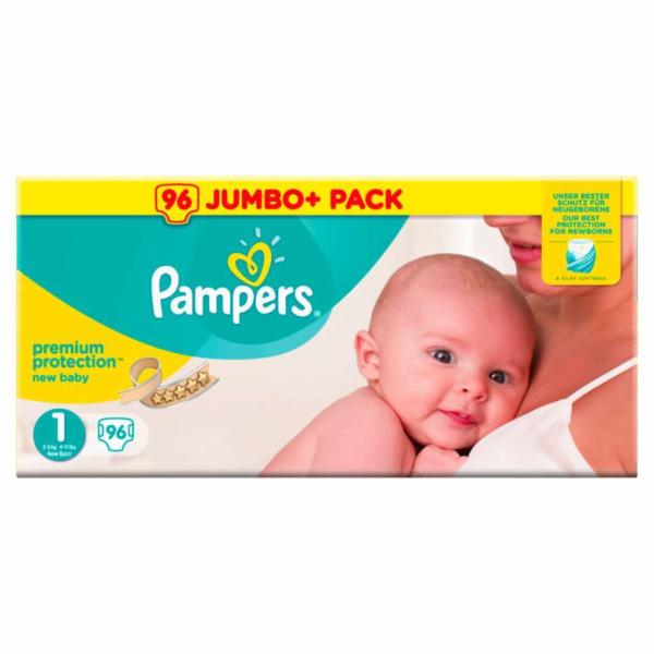 Pampers Premium Protection S1 2-5 kg 96 ks