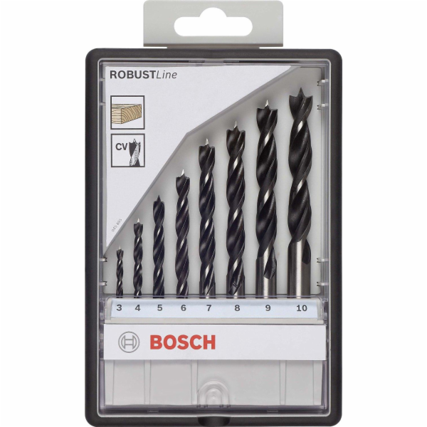 Sada vrtáků do dřeva Bosch 2607010533 8 ks, Robust Line