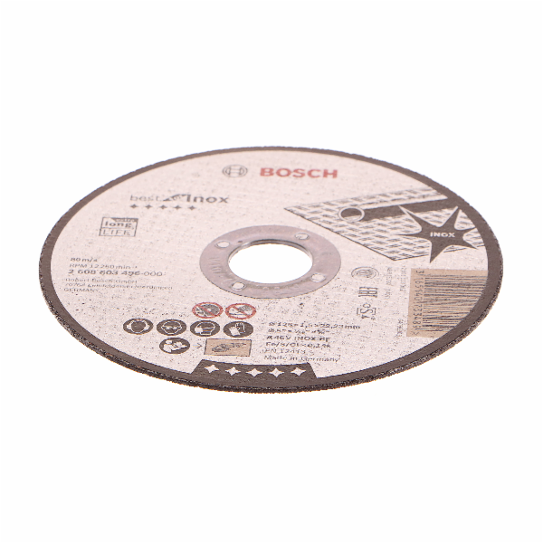 Dělicí kotouč rovný Best for Inox - A 46 V INOX BF, 125 mm, 1,5 mm - 3165140733489 BOSCH
