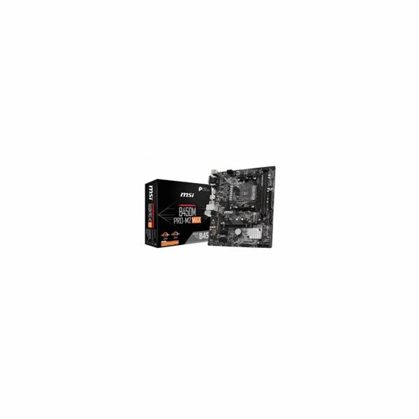 MSI MB Sc AM4 B450M PRO-M2 MAX, AMD B450, VGA, 2xDDR4, mATX