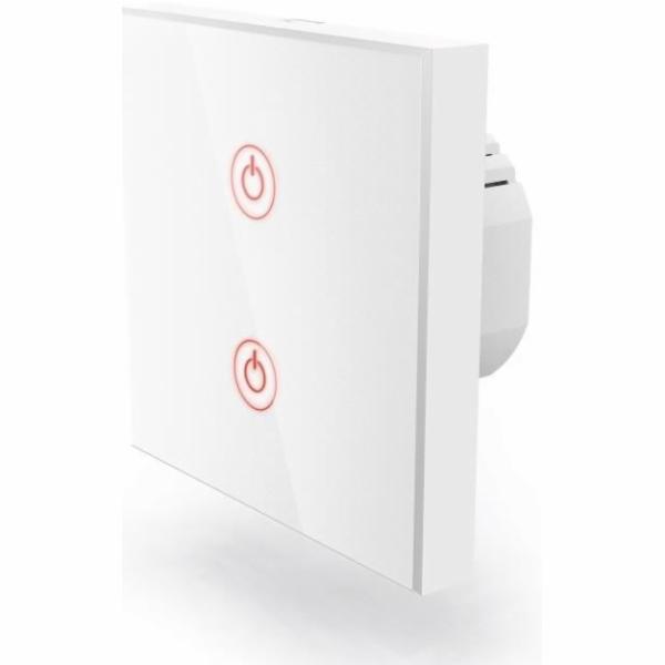 Ovladač Hama WiFi, dotykový, vestavný, dvojitý - bílý