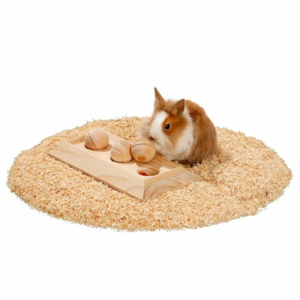 Karlie interaktivní dřevěná hračka pro hlodavce, 30x15x6cm