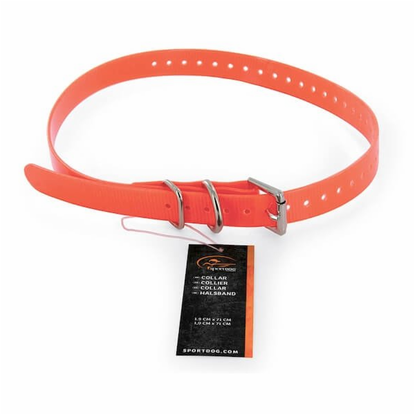Obojek plastový, oranžový 1.9cm