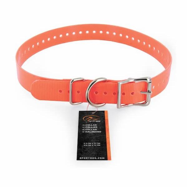 Obojek plastový, oranžový 2.5cm