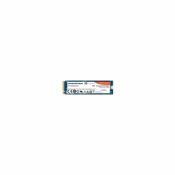 SEAGATE SSD NVMe 1TB FireCuda 510, M.2, PCIe G3 ×4, NVMe 1.3 (R:3450/W:3200 MB/s)