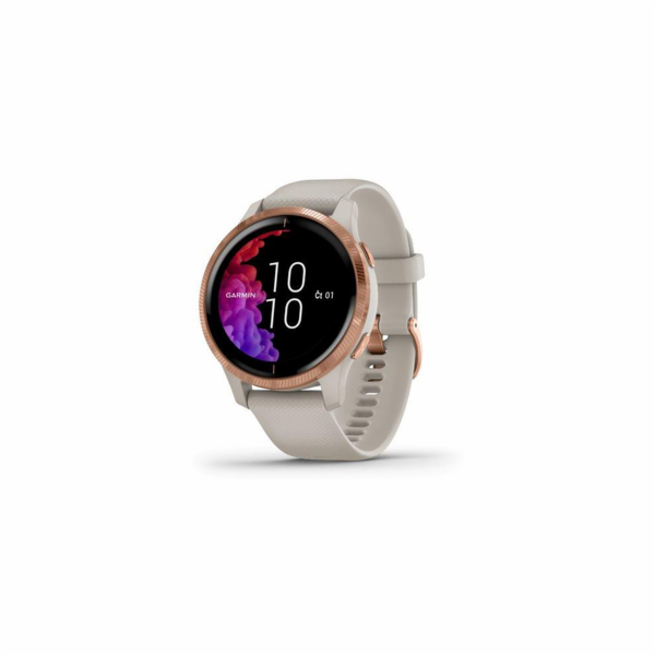 Garmin GPS sportovní hodinky Venu RoseGold/Sand Band