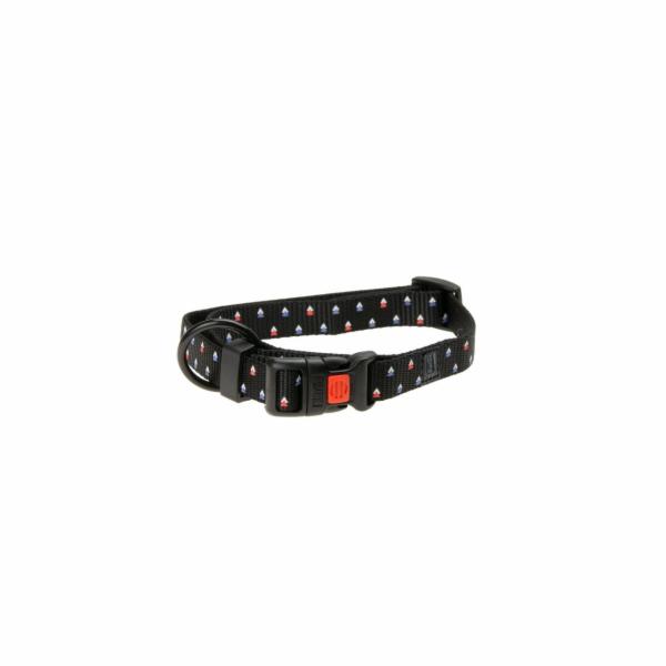 Karlie Obojek ASP Mix&Match černý motiv Trojúhelník velikost S 30-45cm 15mm