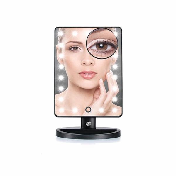 Rio Zvětšovací kosmetické zrcátko s 21 osvětlovacími prvky
