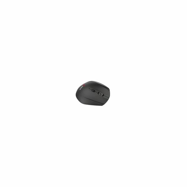 C-TECH myš VEM-08, vertikální, bezdrátová, 6 tlačítek, černá, USB nano receiver