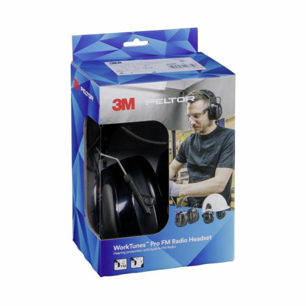 Peltor WorkTunes Pro FM Radio Headset Helmet version
