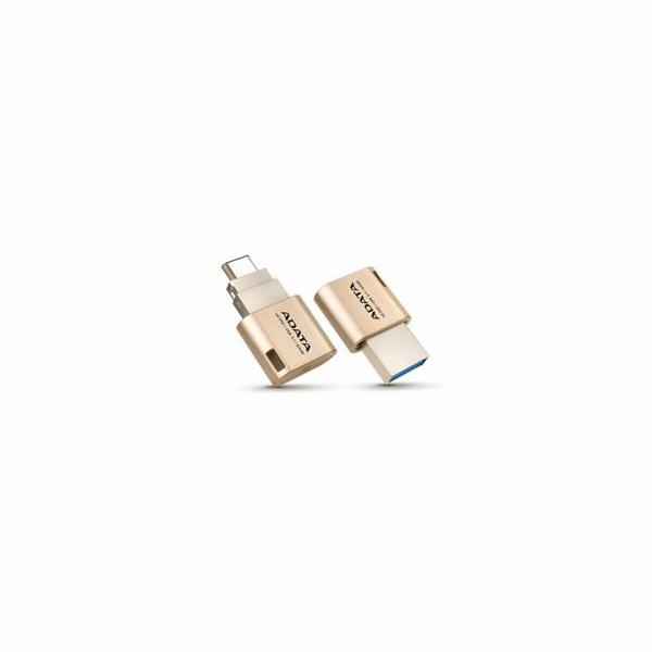 ADATA Flash Disk 64GB UC350, USB 3.0, Type-A & Type-C USB 3.1 (Gen 1),OTG, zlatá