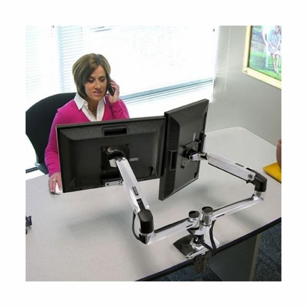 ERGOTRON LX Monitor Arm für zwei Monitore Tischhalterung, Side-by-Side, aluminium