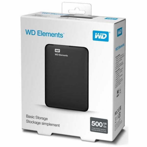 Western Digital WD Elements Portable HDD 500GB USB 3.0