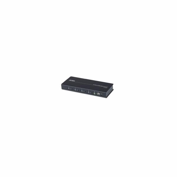 ATEN 4-port KM USB, audio pro přepínání klávesnice a myši